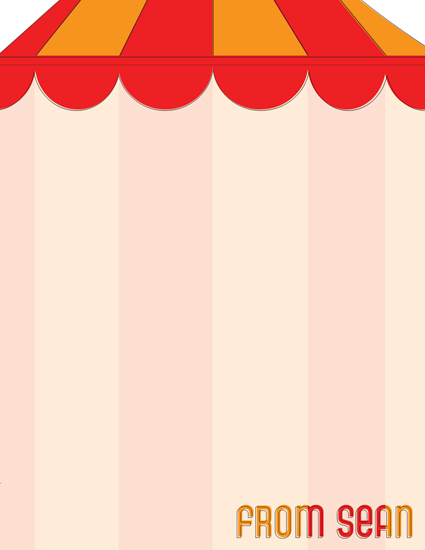 personal stationery - Under The Big Top by Katherine Soares