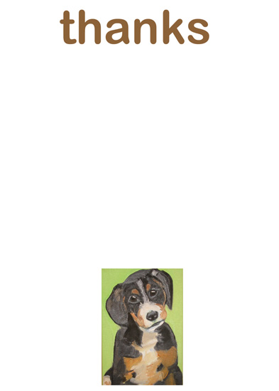personal stationery - puppy spaniel thanks by Annie Seaton