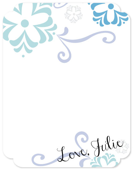 personal stationery - Winter Florals by Elizabeth Roos