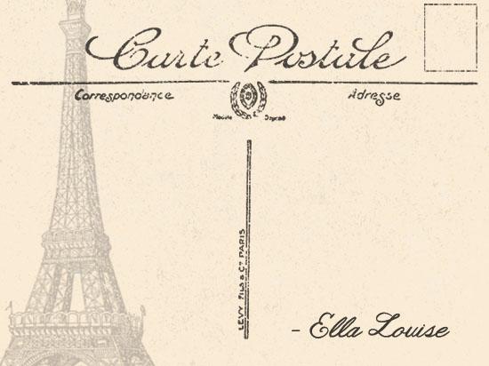 personal stationery - Carte Postale by Refound Nostalgia