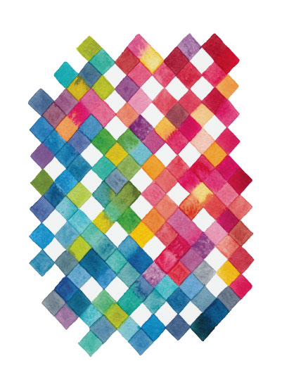 art prints - Rainbow Patches by Pip Gerard