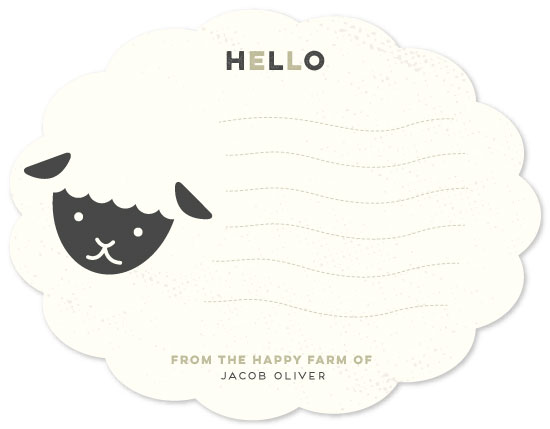 personal stationery - Little Sheep in the Happy Farm by iamtanya