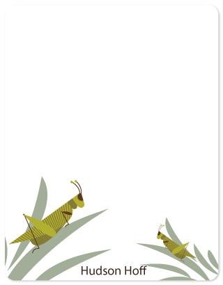personal stationery - Grasshopper by Cavell Ferguson