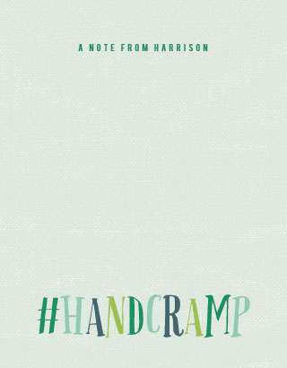 personal stationery - #handcramp by Stacey Hill