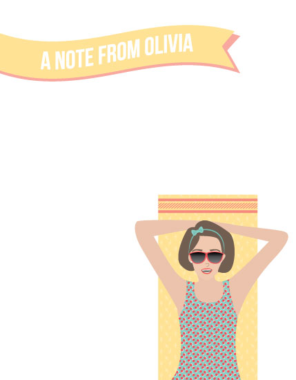 personal stationery - Sunny Note by Brittany Luiz