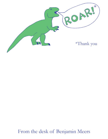 personal stationery - Tyrannosaurus Rex Says Thank You by Chelsea Cates