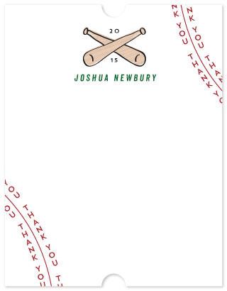 personal stationery - baseball thanks by Anna Elder
