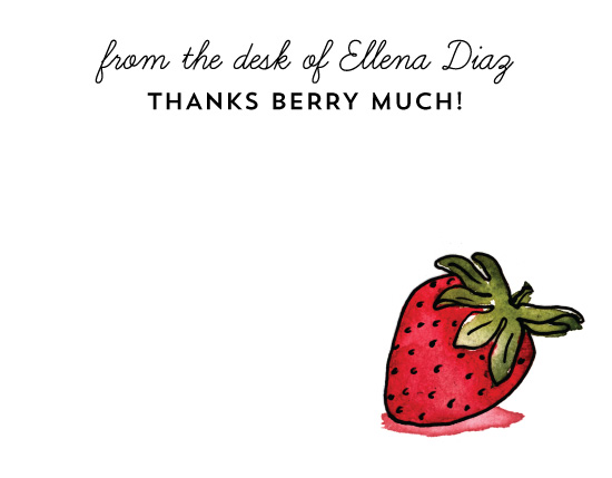 personal stationery - Thanks Berry Much by Liz Conley