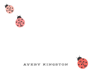 personal stationery - lady bug parade by Stacey Meacham