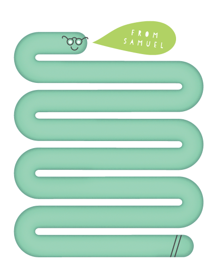 personal stationery - Wriggle Worm by Up Up Creative