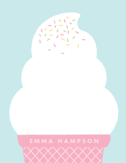 personal stationery - Ice Cream Dream by Cheer Up Press