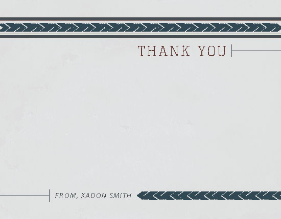 personal stationery - Vintage Arrows Thank You by KT