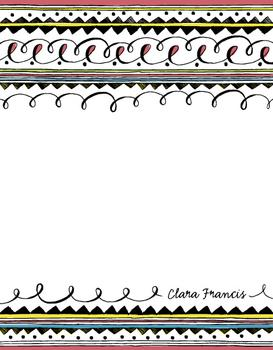 Vibrant Doddle Note