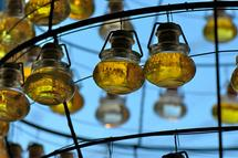 Olive Oil Chandelier by Ellen Hampton