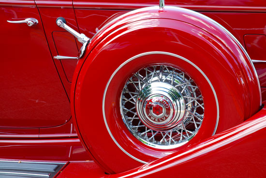 art prints - Red Packard Twelve by Ellen Hampton