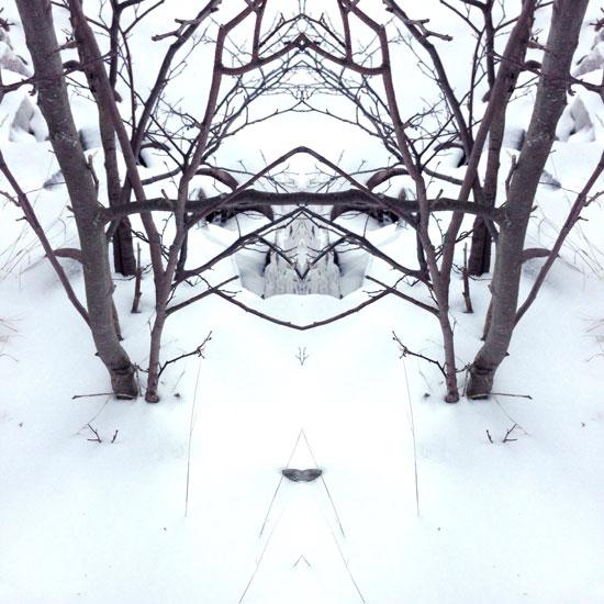 art prints - Snowy mask by Ellen Hampton