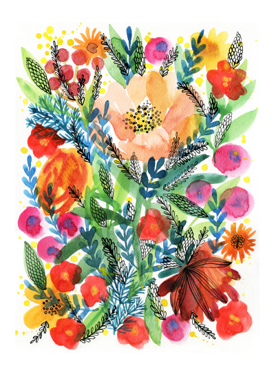 art prints - Summer bloom by Alexandra Dzh