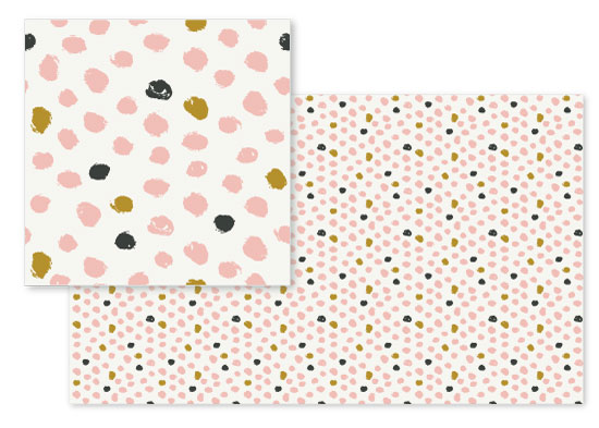 fabric - Painted dots by Stacey Meacham