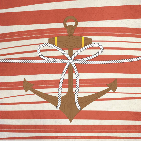 art prints - Roped and Anchored by Elizabeth Roos