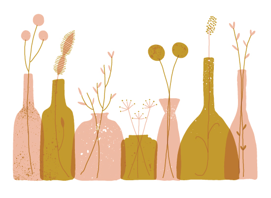 art prints - Bottle Collection by Erin Wallace