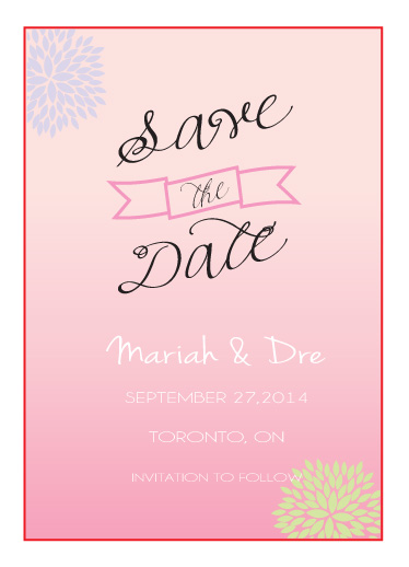cards - ombre save the date by chevaughne Brown