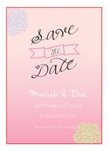 ombre save the date by chevaughne Brown