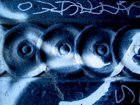 art prints - Brooklyn Blue Graffiti by Ellen Hampton