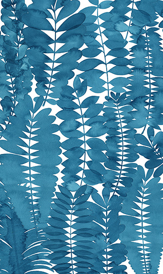 art prints - Indigo Leaves by Natalie Ryan