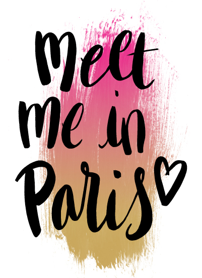 art prints - Meet Me In Paris by Eliza Cerdeiros