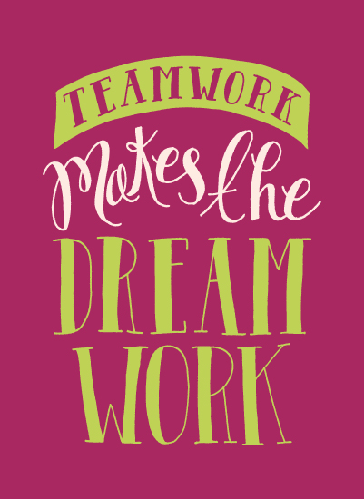 art prints - Teamwork Makes The Dream Work by Eliza Cerdeiros