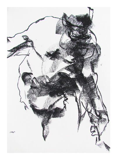 art prints - Drawing 264 - Gesturing Man by Derek overfield