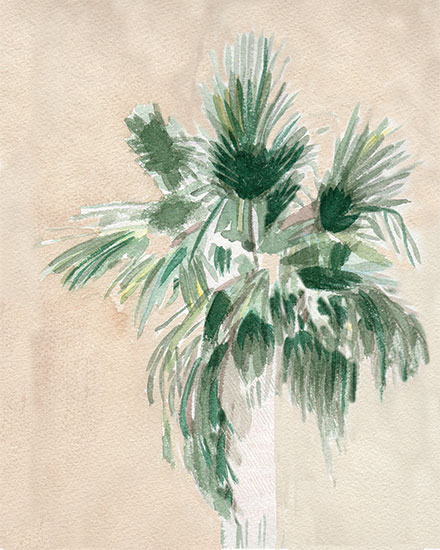 art prints - Palmtree by Eileen Tomson