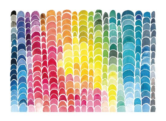 art prints - Crescent Rainbow by Pip Gerard