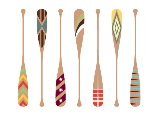 art prints - Paddle Patterns by Julie McCarthy