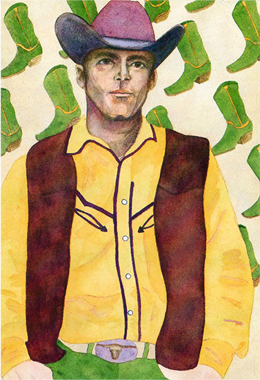 art prints - cowboy+boots by Eileen Tomson