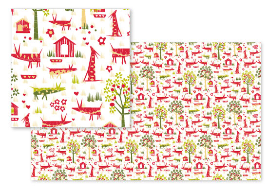 fabric - Orchard Dogs by Jan Shepherd