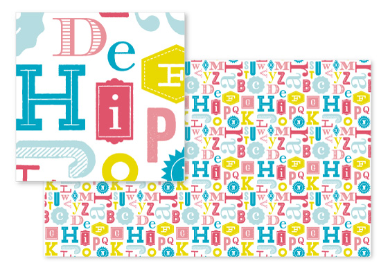 fabric - Eclectic ABCs by Cheer Up Press
