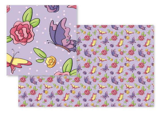 fabric - Spring by Damaris Kolozsvari