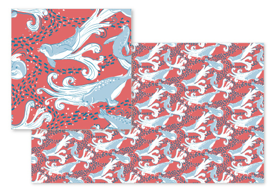 fabric - Sealed with a Fish by Sally McReynolds