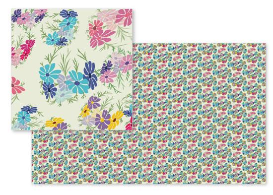 fabric - Floral frolic by Kashmira Baheti