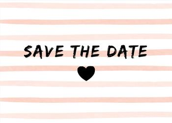 Brush strokes Save the date