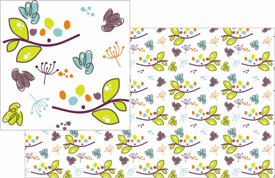 fabric - floating seeds by Branislava Balaz