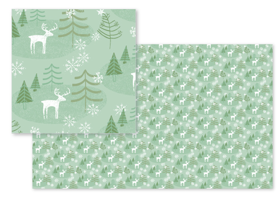fabric - Juniper Winter Forest by Two if by Sea Studios