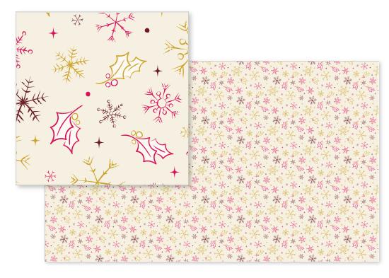 fabric - Winter Holly by GeekInk Design
