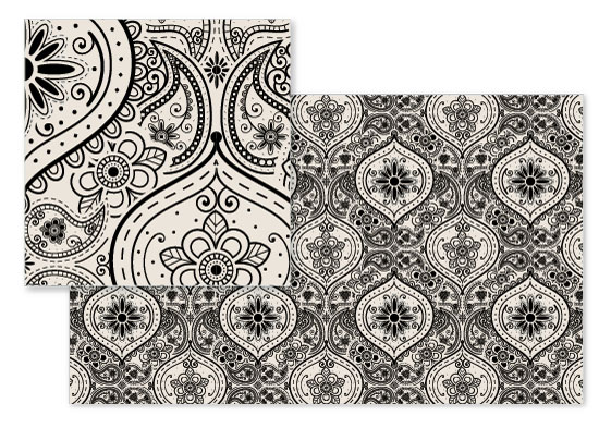 fabric - Not Your Mama's Paisley No. 1 by Beth Schneider