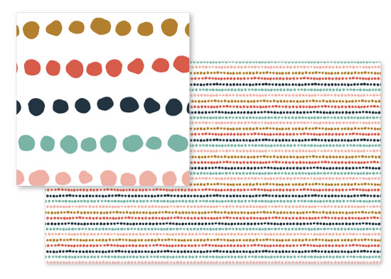 fabric - Dotted Line by Anne Holmquist