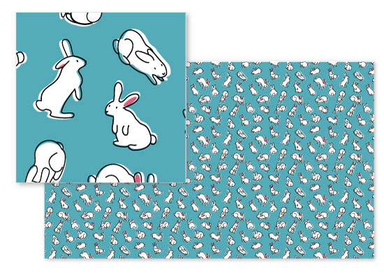 fabric - Bun Bun Fun by Sequana Studio