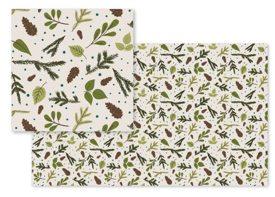 fabric - Leaves and Branches by Emily - Fresh Paper Studios