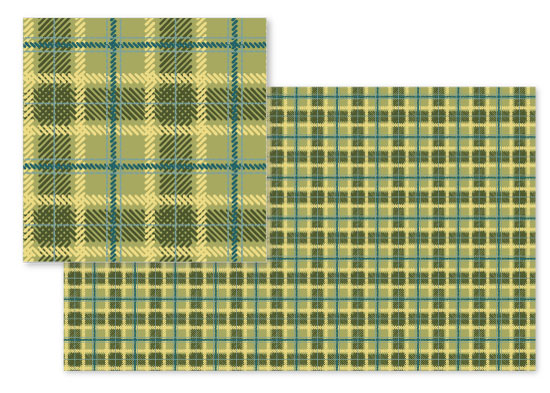 fabric - Sleeping Bag Plaid by Emily - Fresh Paper Studios