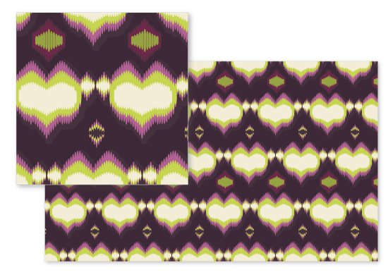 fabric - Tribal Heliotrope by Sabrina Hoeke